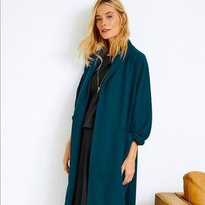 Eileen Fisher Petites Wool Open Kimono Jacket